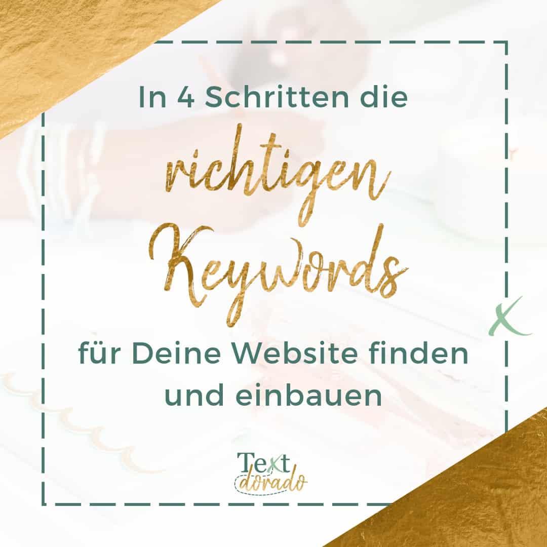 In 4 Schritten die richtigen Keywords für Deine Website finden