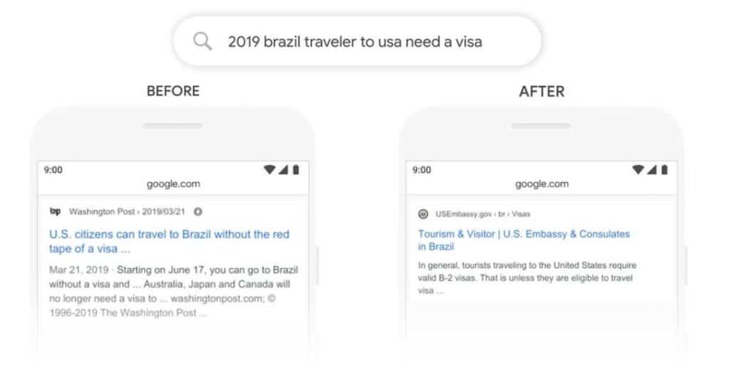 Veränderungen durch Google BERT