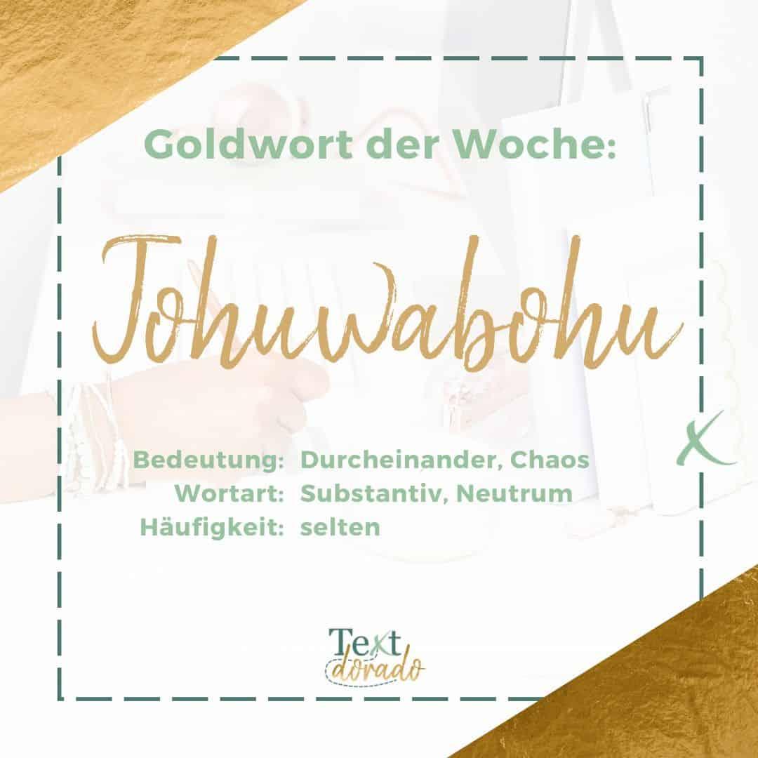 Von Schlafittchen bis Tohuwabohu: Goldwörter im März 2020