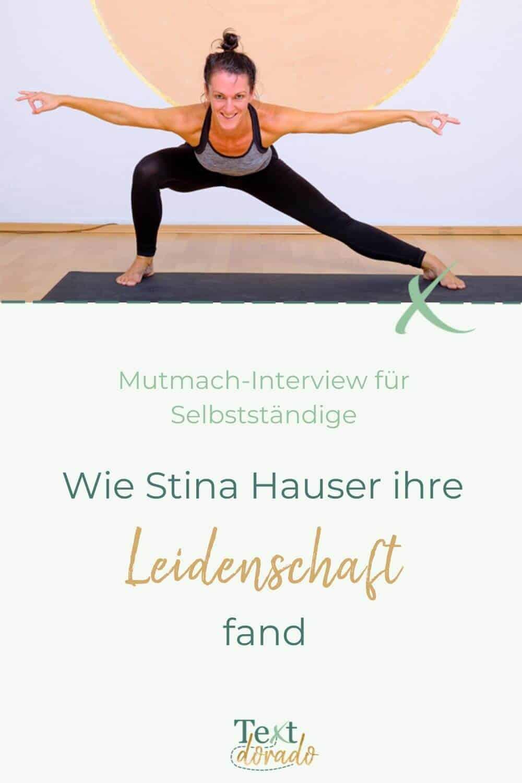 Wie Stina Hauser ihre Leidenschaft fand