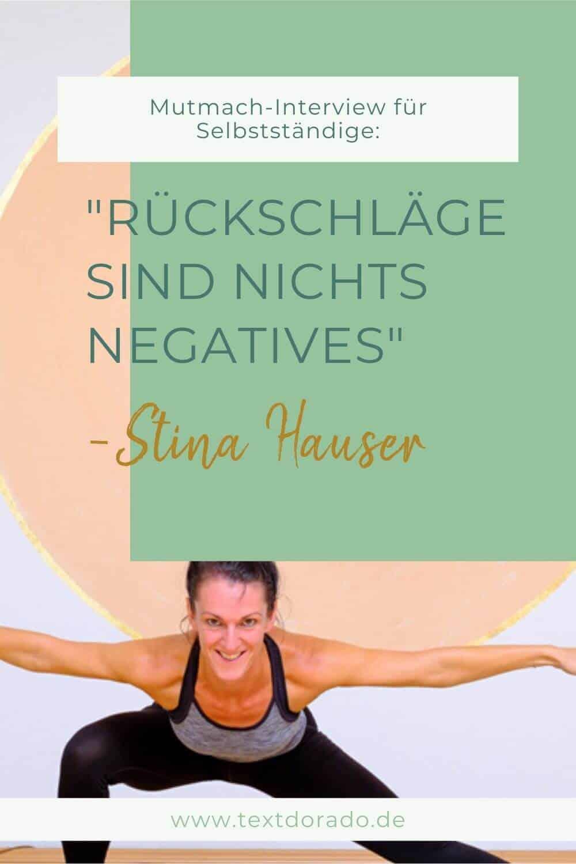 """Stina Hauser: """"Rückschläge sind nichts Negatives"""""""