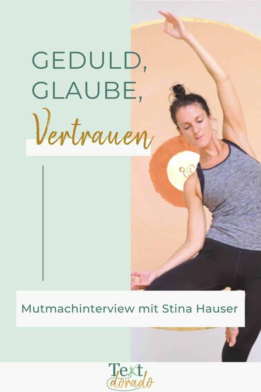 Stina Hauser: Grafik Geduld, Glaube, Vertrauen