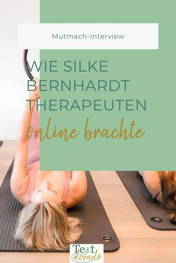 Silke Bernhardt hat den Fortbildungsfinder für Therapeuten erfunden.