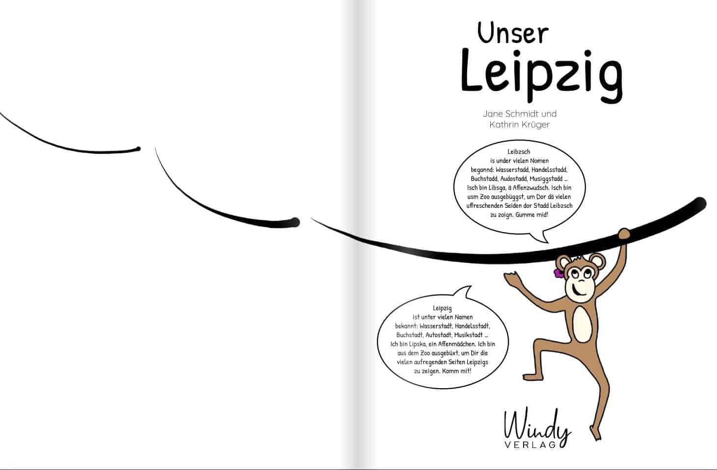 """Erste Seite von """"Unser Leipzig"""" von Jane Schmidt"""