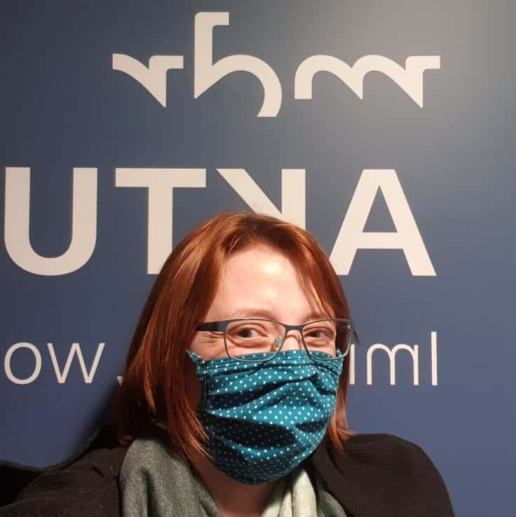Jane Schmidt mit Maske