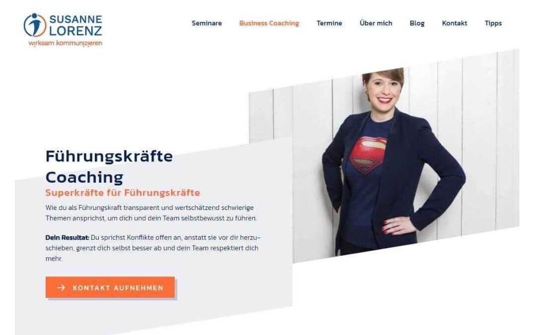 Optimierte Webseite von Susanne Lorenz