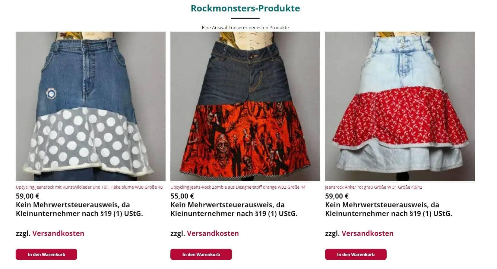 Röcke im Rockmonsters-Shop
