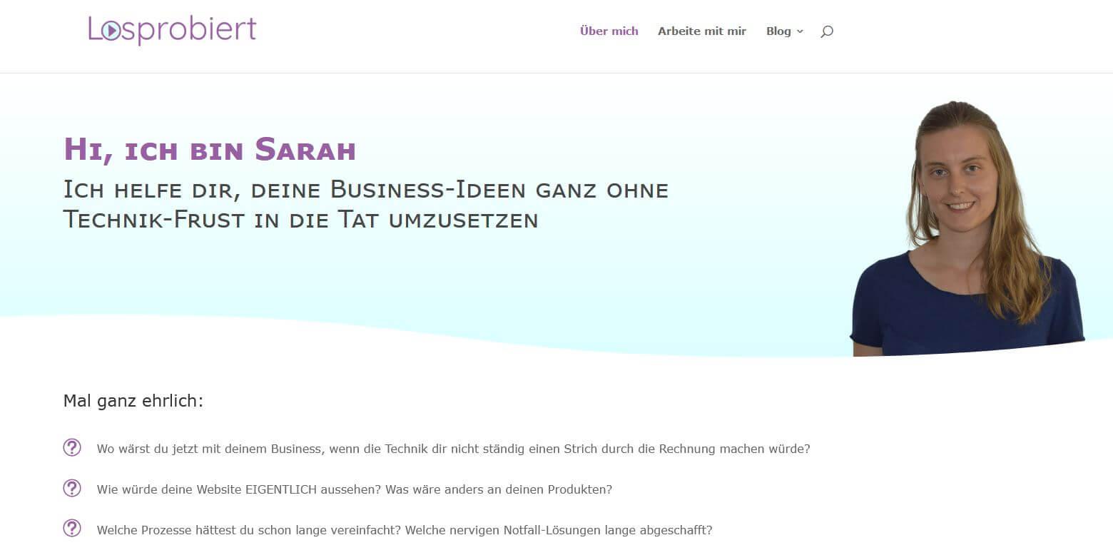Die Über-mich-Seite von Sarah Osenberg