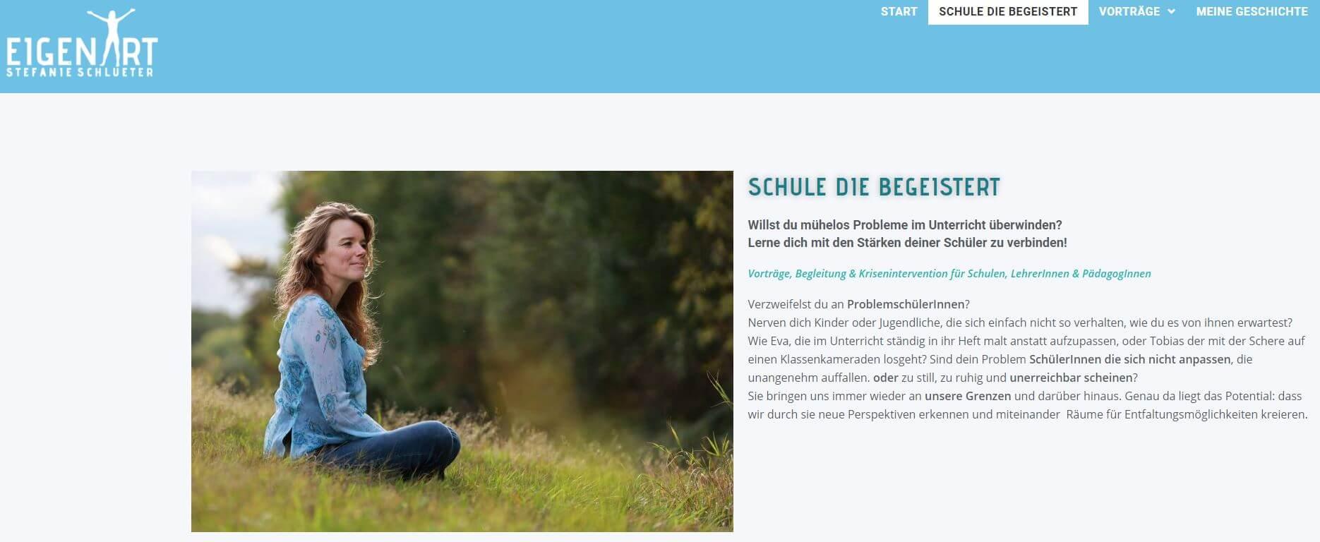 Stefanie Schlüter Verkaufsseite